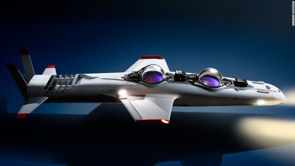 The Falcon -- a two-man electric submarine --  is just one of the flashy superyacht accessories on offer.