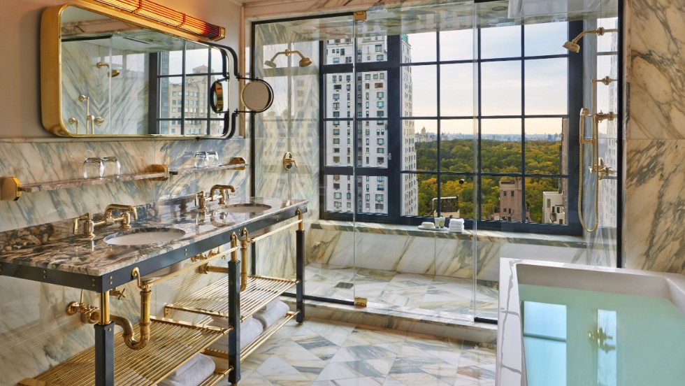 Bathroom Lighting Fixtures Nyc world's splashiest hotel bathrooms | cnn travel
