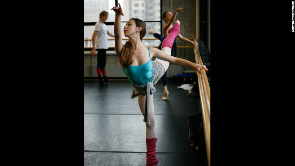 Taking a class at the Baryshnikov Arts Center in New York City