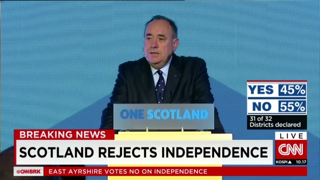 Scotland's first minister concedes