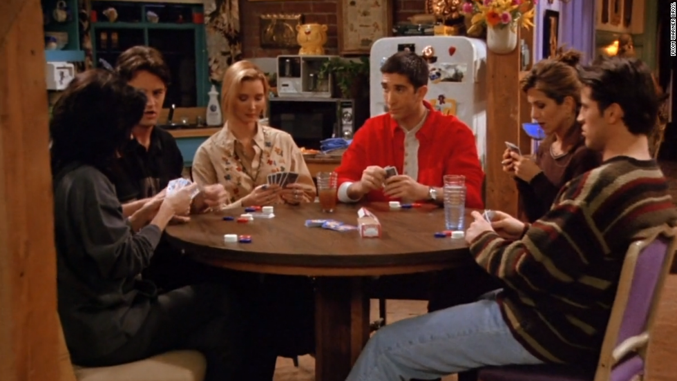 "<strong>""The One with all the Poker:"" </strong>Any episode that combined all of the ""Friends"" and a guys vs. girls faceoff was bound for greatness. But underneath the humor in this season 1 episode was a larger story unfolding of Ross' feelings for Rachel."