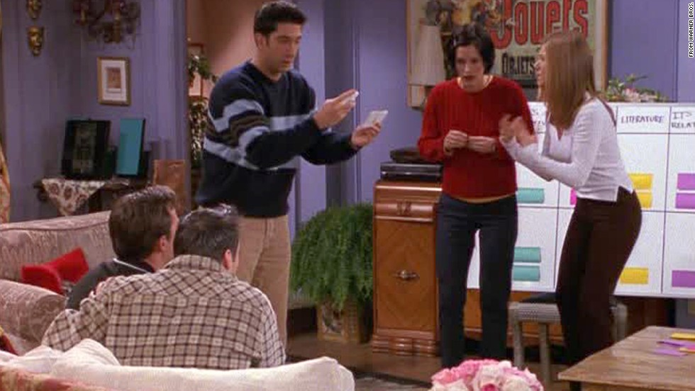 "<strong>""The One with the Embryos:""</strong> This season 4 episode is just as well known by its unofficial name, ""the one with the quiz."" While Phoebe's hoping a fertility procedure works so she can carry her half-brother's kids (yes, real plot), the rest of the ""Friends"" <a href=""https://www.youtube.com/watch?v=oENQjvY96dM"" target=""_blank"">set up an elaborate trivia game</a> to see who knows each other the best. The price of this game? Monica and Rachel's apartment."