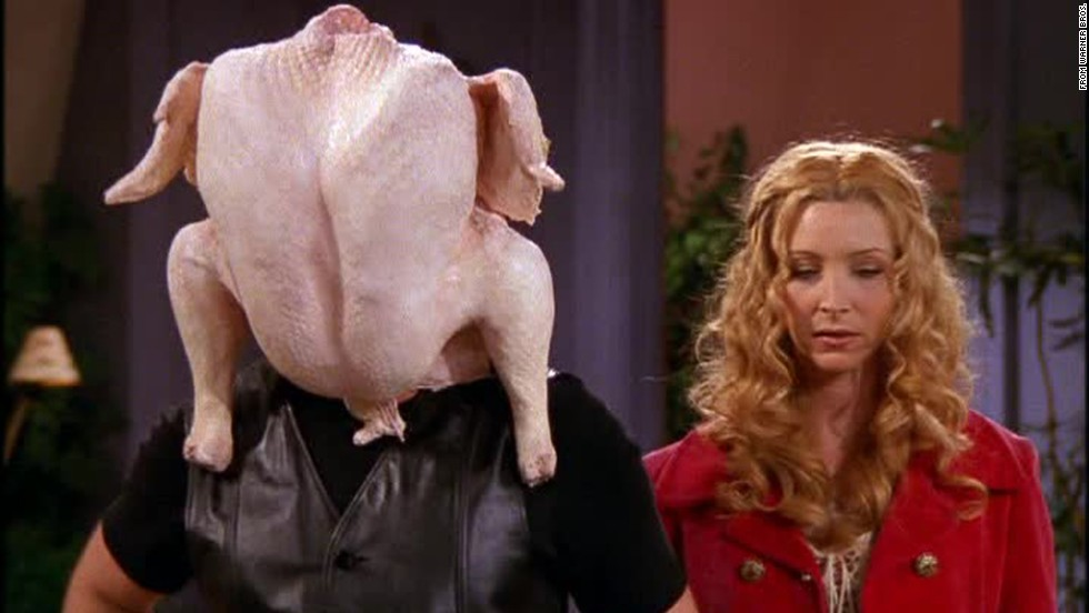 "<strong>""The One with all the Thanksgivings:""</strong> A strong ""Friends"" episode for Thanksgiving was a tradition by season 5, and that year's installment didn't disappoint. Nothing makes a great comedy episode like flashbacks of past holiday dinners gone wrong -- like the time Joey got a turkey stuck on his head."