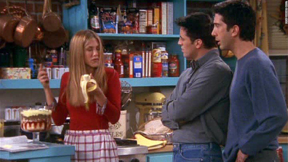 "<strong>""The One Where Ross Got High:""</strong> The secrets came tumbling out in this season 6 episode, when the Geller parents come over for Thanksgiving dinner. <a href=""http://www.nickatnite.com/videos/clip/friends-the-one-where-ross-got-high-clip.html"" target=""_blank"">Ross owns up to getting high in college</a>; Rachel realizes she made a beef trifle; Chandler and Monica's cover is blown; and Phoebe blurts out her love for Jacques Cousteau. Fantastic timing all around."