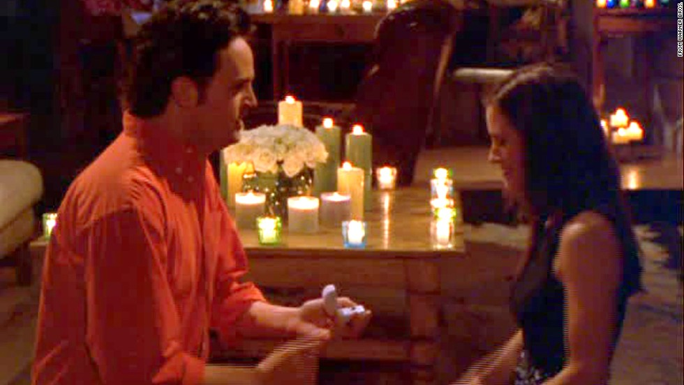 "<strong>""The One with the Proposal, Parts 1 and 2:""</strong> So we're cheating by including two-parters, but the relationship between BFFs Chandler and Monica was just as enjoyable as Ross and Rachel's, which usually got more attention. (A dynamic that led to our next favorite episode.) In season 6, these two decided to get married with a sweet proposal that Monica initiates and Chandler concludes."