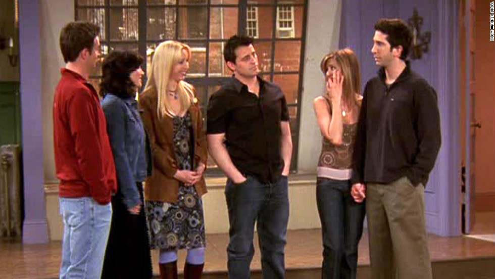 "<strong>""The Last One, Part 2:""</strong> After several sessions on Central Perk's orange couch, this group of ""Friends"" said goodbye on May 6, 2004. They do it in classic ""Friends"" style with one last ""will they or won't they?"" moment between Ross and Rachel (a moment that was greatly aided by Phoebe's quick thinking regarding a plane's ""left phalange""). As they exited Monica's apartment for the last time, they decided to grab a coffee. Cue Chandler asking with perfect timing, ""Sure -- where?"""