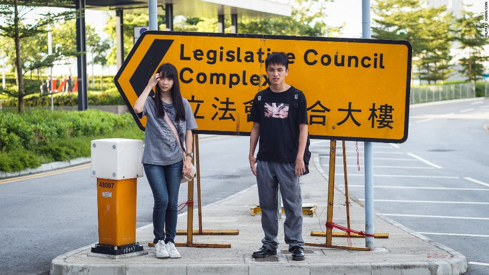 "17-year-old students Agnes Chow and Ivan Tan are members of Scholarism. ""After joining Scholarism, I've become braver than before,"" Chow told CNN last year."