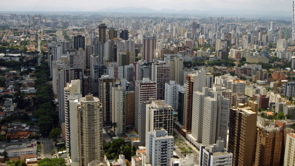 The city of Curitiba  in Brazil saw rapid growth in its population in the 1970s and pioneered the Bus Rapid Transit system to get residents around the city efficiently and affordably.