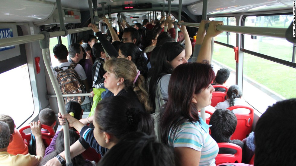 Bus capacities are large with Transmileno buses in Columbia holding up to 270 passengers. Buses in Curitiba will now hold 250 passengers.