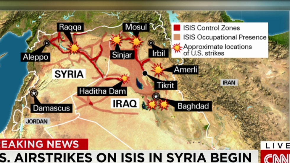 Airstrikes On ISIS In Syria Whos In Whos Not CNN - Map of countries us is bombing
