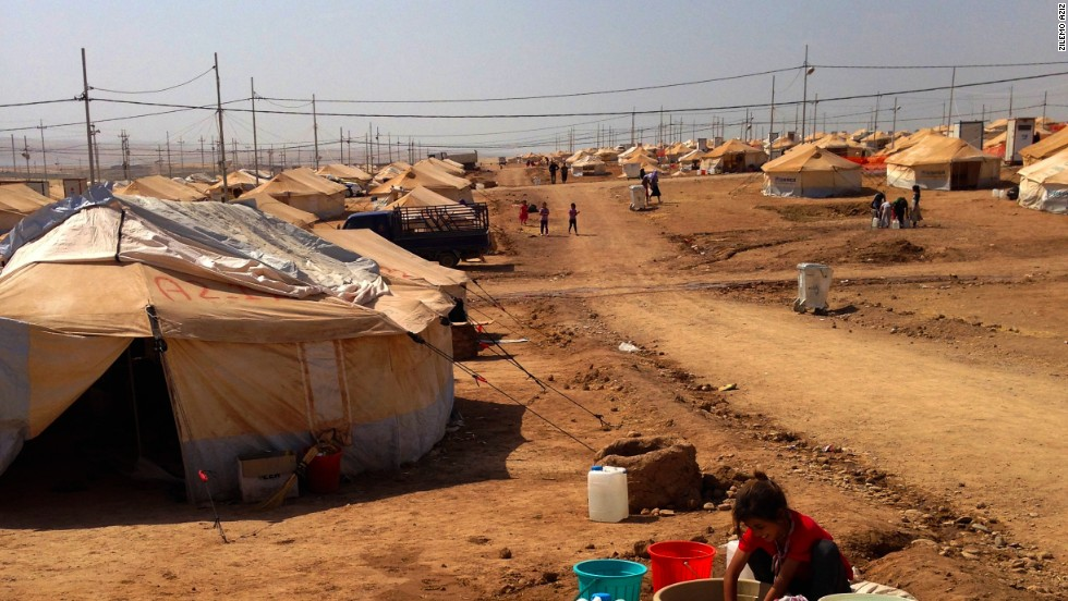 The Khanke refugee camp sits in the dusty, desolate plains on the outskirts of Duhok in northwest Iraq.