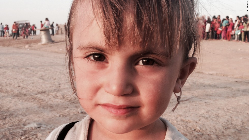 Children live in tents with the survivors who have fled ISIS from their hometowns in Iraq.