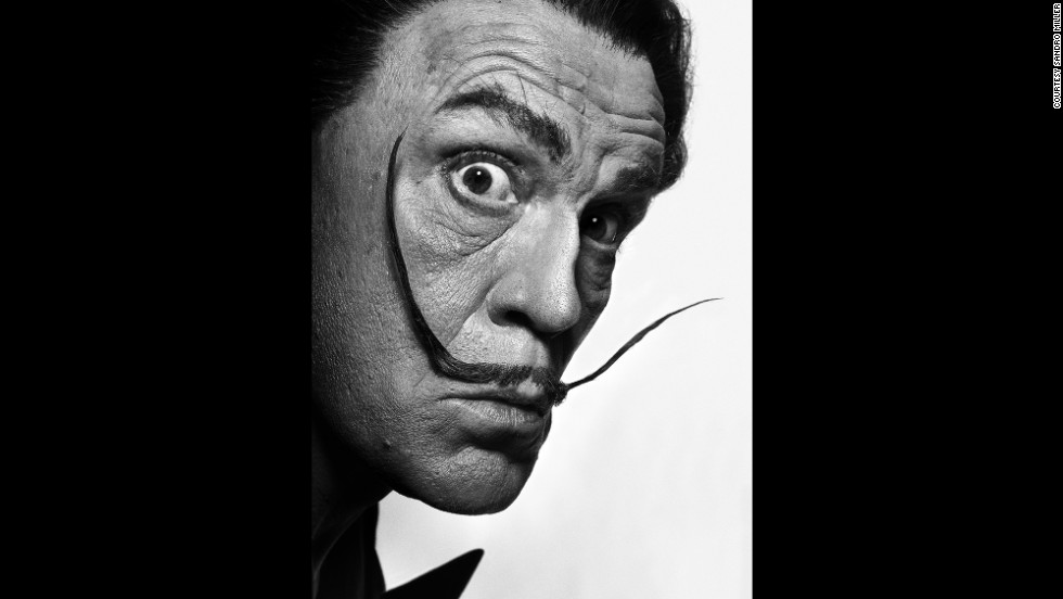 Malkovich and Miller re-created this famous portrait of artist Salvador Dali, which was taken by Philippe Halsman in 1954.