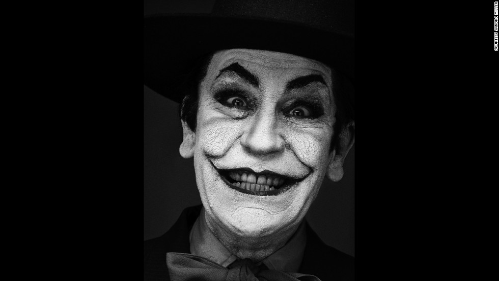 "Malkovich becomes Jack Nicholson's Joker character from the ""Batman"" movie in 1989. This is based on an original image by Herb Ritts."