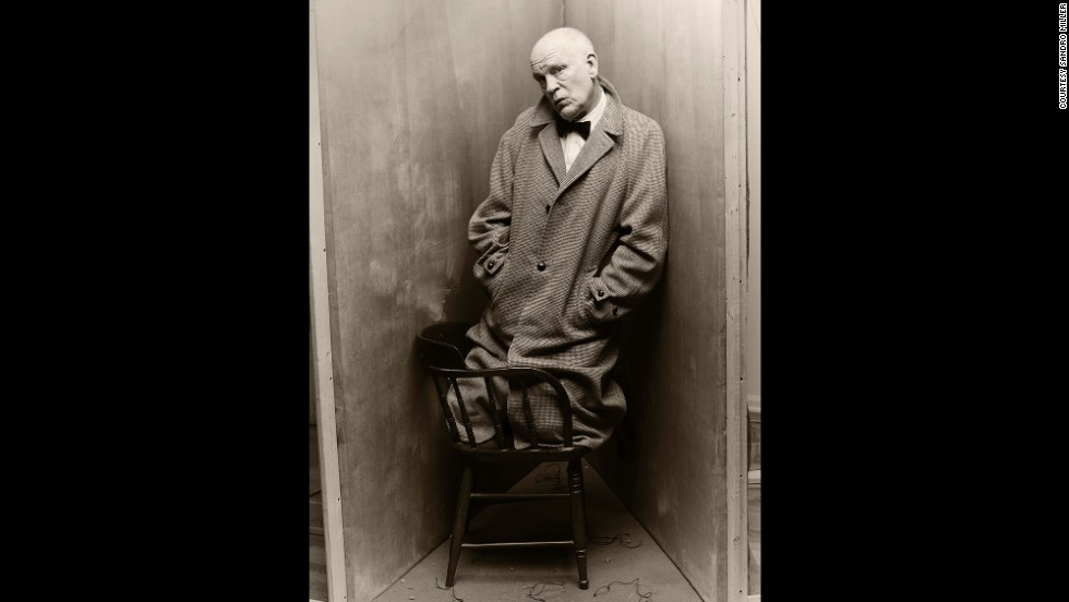 Malkovich is author Truman Capote in this re-creation of an Irving Penn original in 1948.