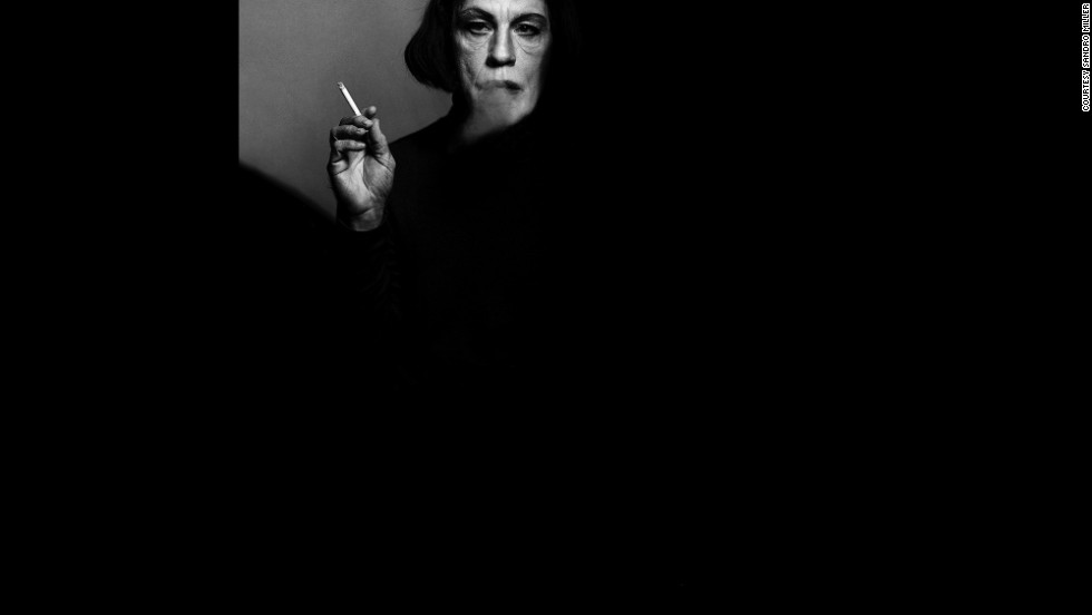 Malkovich becomes Bette Davis smoking a cigarette in this re-creation of Victor Skrebneski's 1971 portrait.