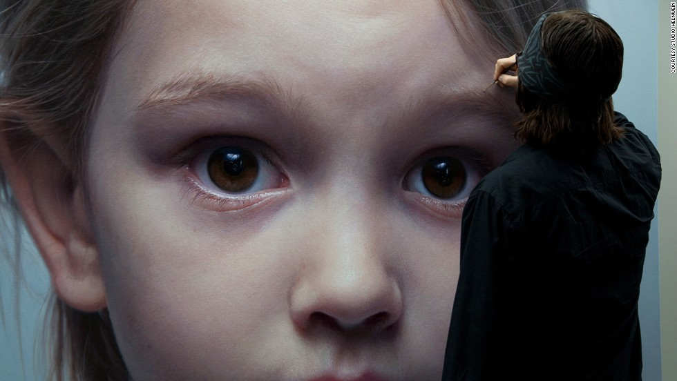 "<a href=""http://www.helnwein.com/"" target=""_blank"">Gottfried Helnwein</a> frequently depicts children in his gigantic, mesmerizing portraits, along with ""low culture"" icons including Donald Duck, with the loss of childhood innocence as a reoccurring theme."