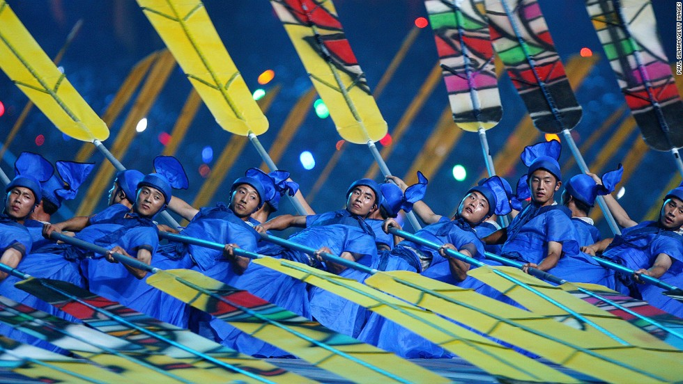 The display of totalitarian jazz hands at the 2008 Summer Olympics Opening Ceremony in Beijing showcased Chinese art forms from ink painting and opera to acrobatics and tai chi.