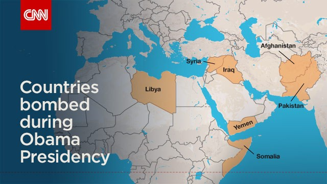 Countries Bombed By The US Under Obama Administration CNNPolitics - Map of countries us is bombing