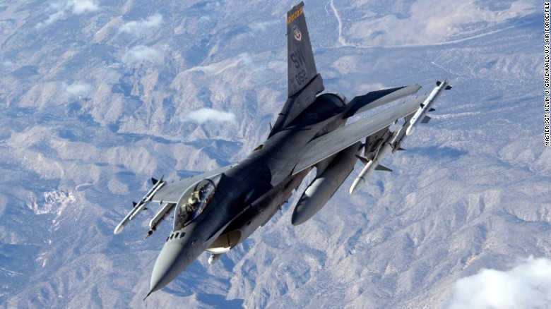 Two F-16 fighter jets collide over Georgia
