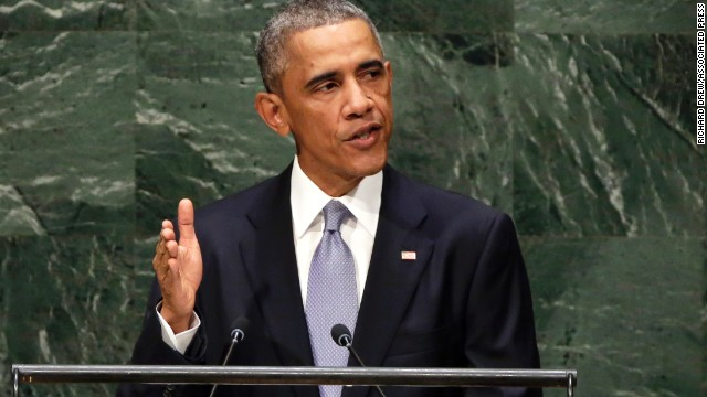 United States President Barack Obama addresses the 69th session of the United Nations General Assembly in New York on Wednesday, September 24.