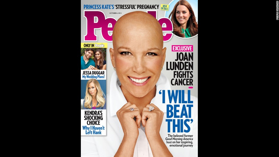 "When former ""Good Morning America"" host Joan Lunden learned she was facing an ""aggressive"" form of breast cancer, she was determined to face her health battle head on. Knowing she would need chemotherapy, Lunden decided to remove her familiar blond hair before her locks could be affected by the treatment. ""You know it's going to happen one of these days and you are wondering how or when,"" <a href=""http://www.people.com/article/joan-lunden-bald-reveal-breast-cancer"" target=""_blank"">Lunden explained to People magazine</a>, which she posed for without her wig in September. ""So I just owned it."""