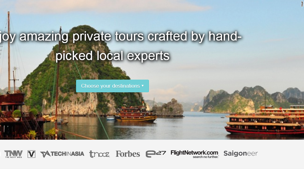 "Customizing travel itineraries used to be the work of travel agents, but Triip puts it in the hands of spirited amateurs who can design and sell trips they've put together themselves. ""It brings the Airbnb concept to local tours and tour guides in Vietnam, allowing anybody with a tour idea to create their own package and sell to interested tourists,"" says Wong."