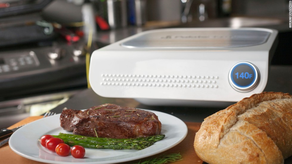 "<em><strong>Take the guesswork out of cooking</strong></em><br /><br />The George Foreman grill might finally see a new contestant enter the ring: it's called the Palate Smart Grill and it promises restaurant-level cooking finesse at home, at the press of a button. Or rather, a tap on a screen.<br /><br />You just tell the machine what you're cooking and how you want it cooked, all through a smartphone and tablet app, and the Palate does everything else for you, using its many sensors and its ability to monitor the temperature down to 0.2 degrees Celsius of precision. <br /><br />Overcooked? Undercooked? Never again. That hint of disappointment on your guests' faces at dinner parties? Forget about it. The grill isn't yet available to buy, but eager customers can choose to be <a href=""http://www.palatehome.com/"" target=""_blank"">notified</a> as soon as it will be."