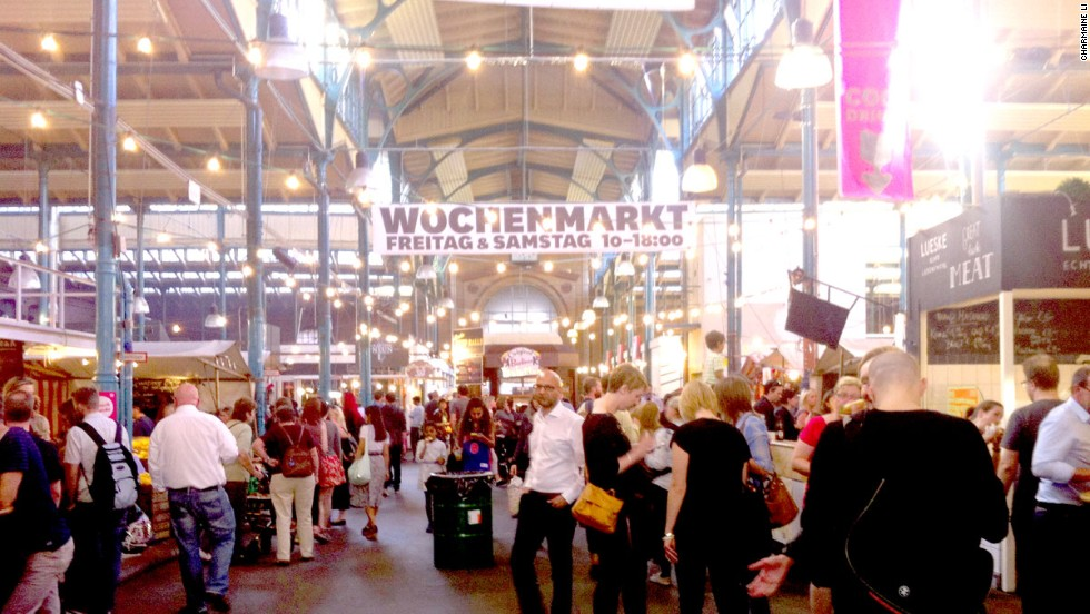 Every week in the bustling district of Kreuzberg, one of the few well-preserved historic market halls in Berlin is transformed into a street food market.