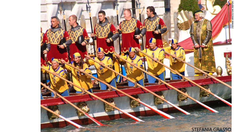 "The colorful <a href=""http://ireport.cnn.com/docs/DOC-1032100"">Regata Storica</a> takes over Venice's Grand Canal in September 2013. The annual event features a parade of 16th century-style boats with gondoliers in period costume."