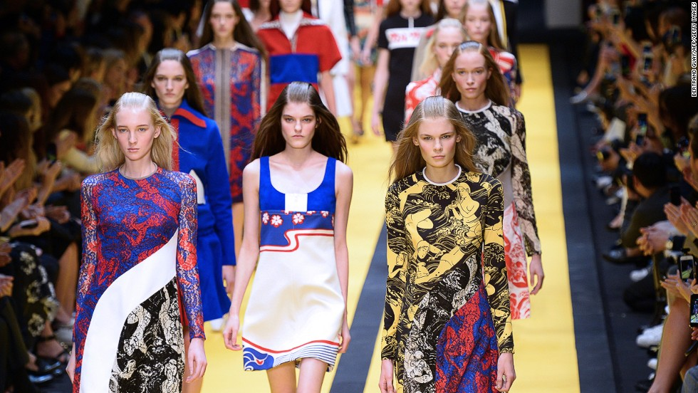 This season, Carven designer Guillaume Henry drew inspiration from Formula 1, the sixties and Japanese art, and it shows.