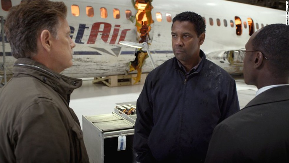 "<strong>""Flight"" (2012)</strong>: Washington returned home to drama with his impressive turn as pilot Whip Whitaker. His work was praised as <a href=""http://www.timeout.com/london/film/flight-2012"" target=""_blank"">""effortless,""</a> <a href=""http://www.richardroeper.com/reviews/flight.aspx"" target=""_blank"">""nuanced""</a> and <a href=""http://www.rollingstone.com/movies/reviews/flight-20121101"" target=""_blank"">""bruisingly true,""</a> not to mention it earned him his fifth career Oscar nod."