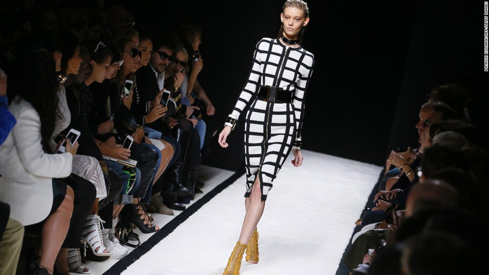 Olivier Rousteing continued his mission to merge sex appeal and power dressing at Balmain.