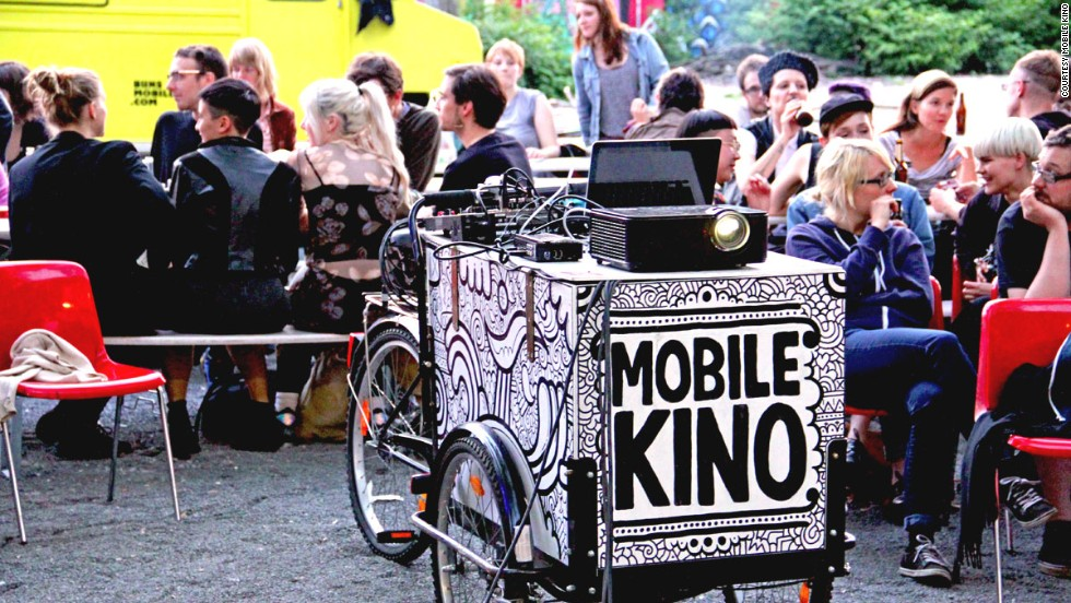 Berlin's Mobile Kino is an independent cinema on wheels that roves around the city, bringing art house movies to unexpected venues.