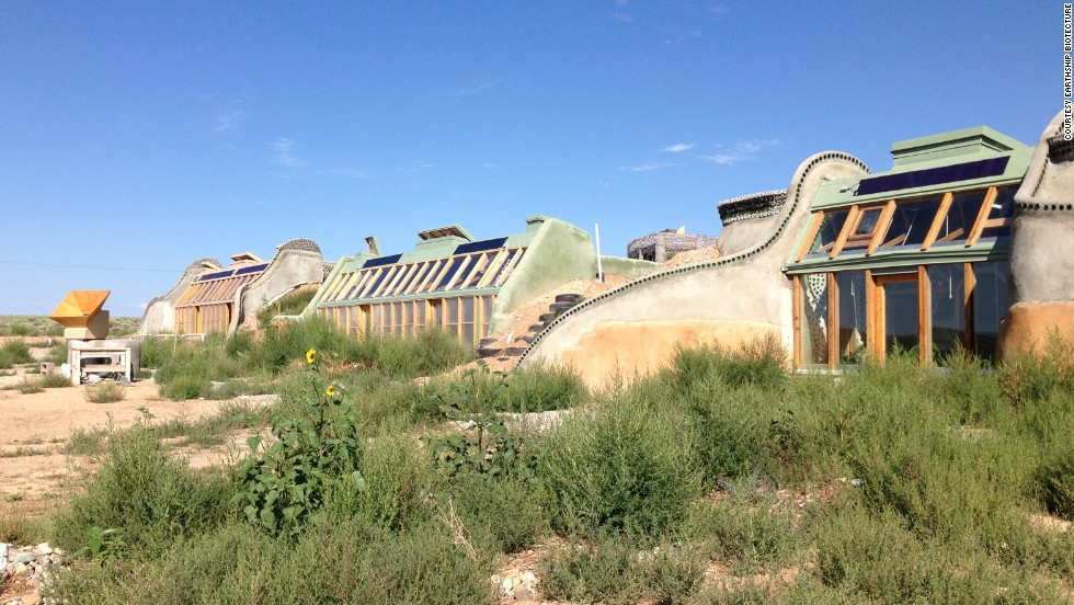 "<a href=""http://earthship.com/"" target=""_blank"">Earthships</a> are weird and wonderful eco-friendly homes, built from from natural and recycled materials. They are designed to be ""off-grid ready"", not needing to rely on external sources of energy or fossils fuels."