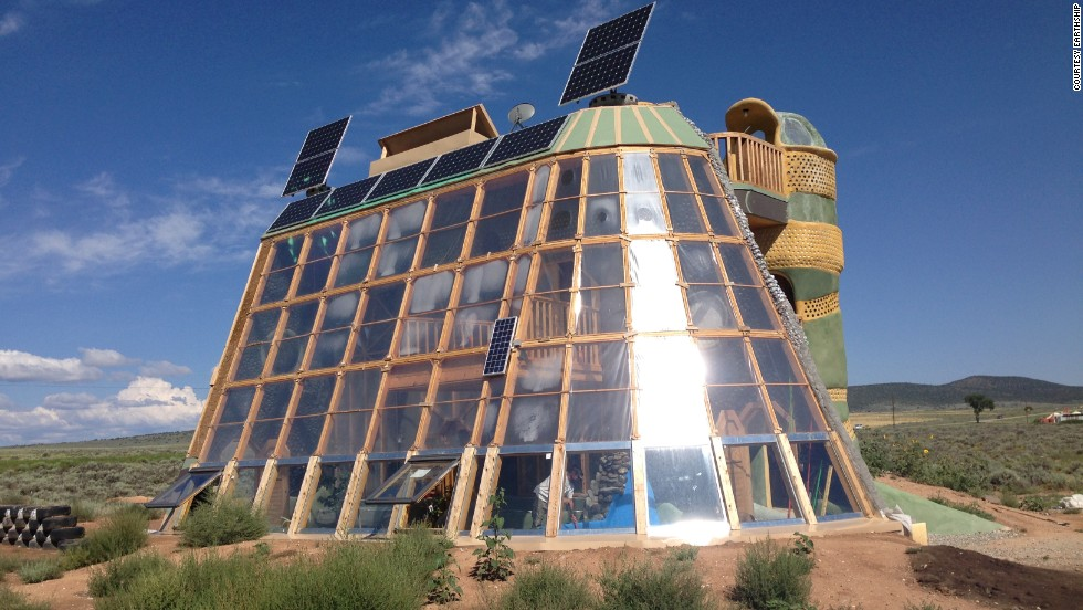 Earthships The Sustainable Homes Made With Old Junk Cnn
