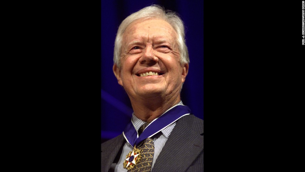 Clinton presented Carter with the Presidential Medal of Freedom, the nation's highest civilian honor, on August 9, 1999. Carter was recognized for his diplomatic achievements and humanitarian efforts.