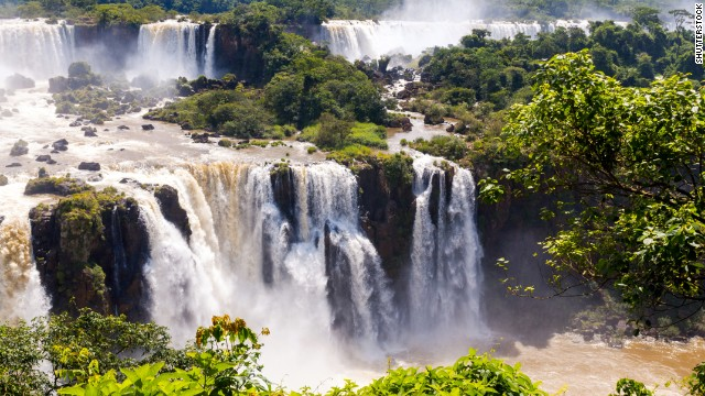 Iguassu Falls is the largest series of waterfalls on the planet, located in Brazil, Argentina, and Paraguay.