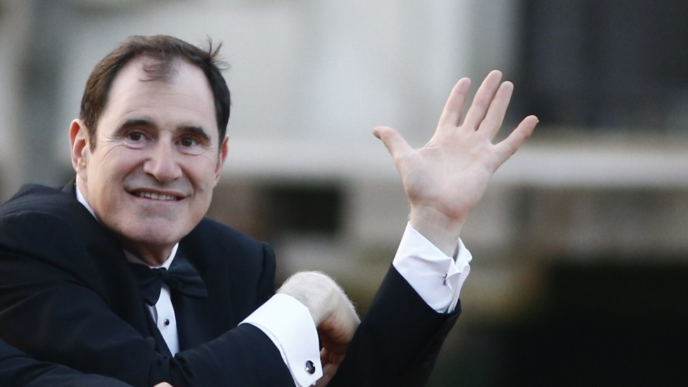 Actor Richard Kind arrives for the wedding.