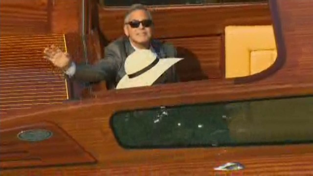 cnnee venice george and amal in a boat going to the civil ceremony _00000623.jpg