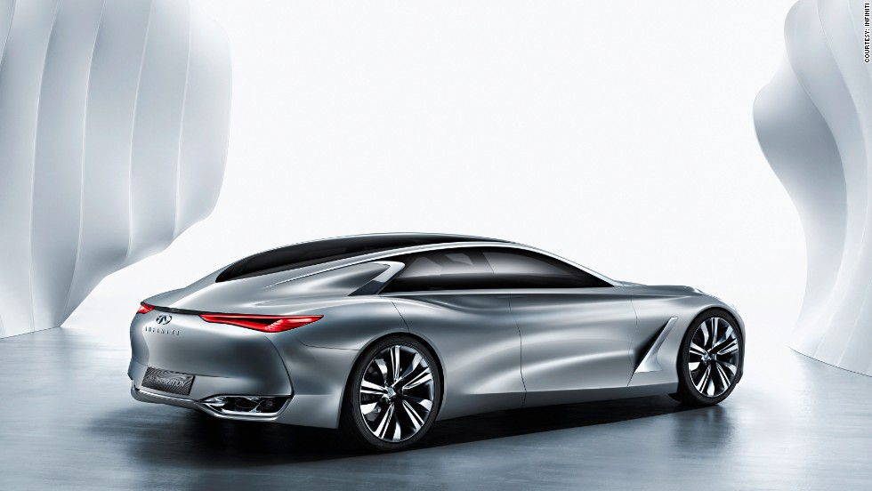 Infiniti, the Japanese upmarket car maker, is showing its four-door Q80 concept that will lead to future models of its flagship sedan.