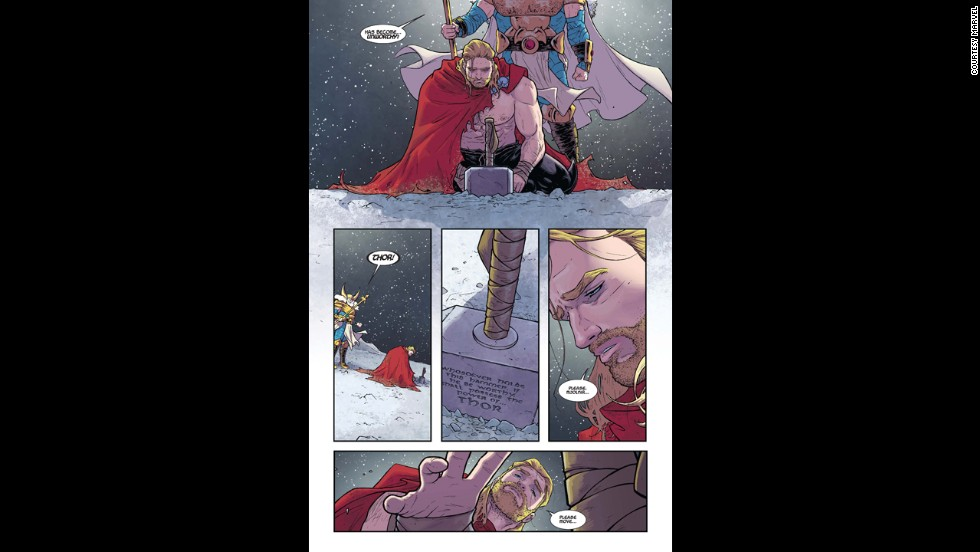 "In this look inside ""Thor"" #1, we see how Thor gives up the hammer, seemingly for good."