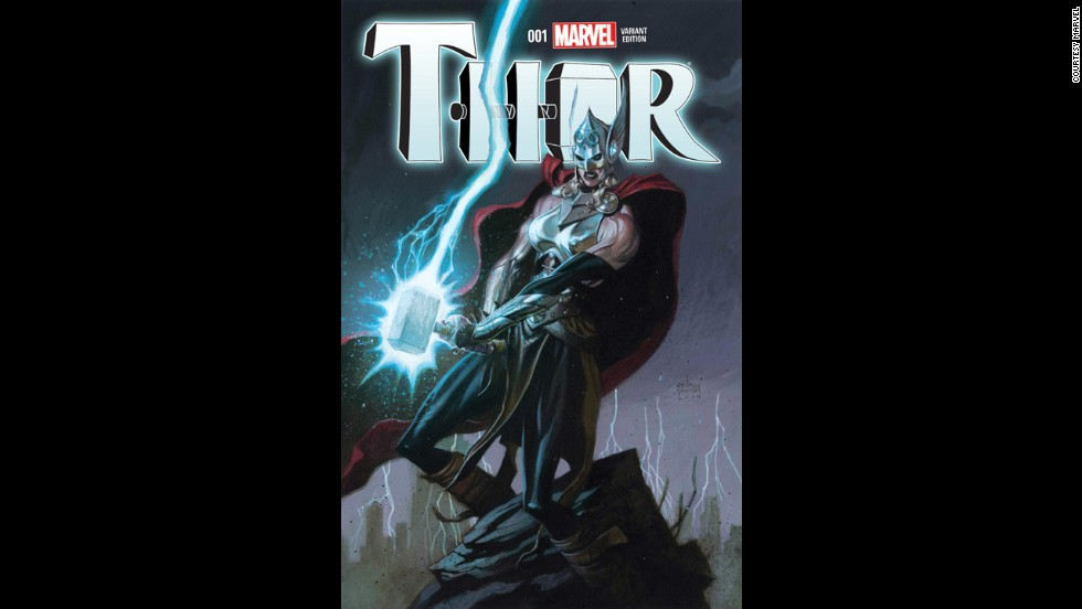 This variant cover gives us a better look at the new Thor's costume.