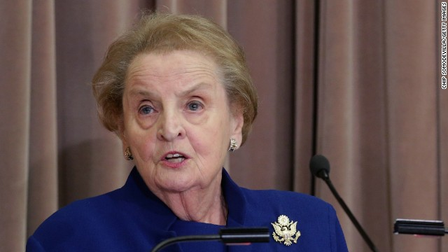Former Secretary of State Madeleine Albright delivers remarks during the ceremonial groundbreaking of the future U.S. Diplomacy Center at the State Department's Harry S. Truman Building September 3, 2014 in Washington, DC.