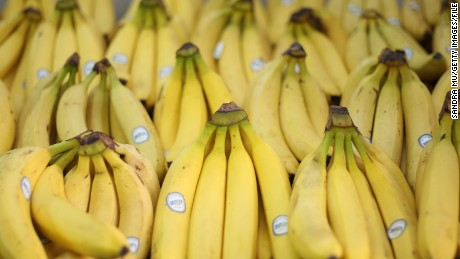 Fresh bananas are on display but prices are set to rise in the next budget announcement if GST is increased on fruit and vegetables on May 18, 2010 in Auckland, New Zealand. Finance Minister Bill English will deliver the 2010 Budget at Parliament House on March 20. (Photo by Sandra Mu/Getty Images)