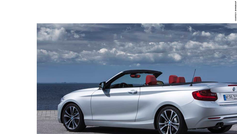 "The ""open-air driving"" enthusiasts will be interested in BMW 2er convertible, which the company says boasts ""expressive, elegant design and a flat waistline."""