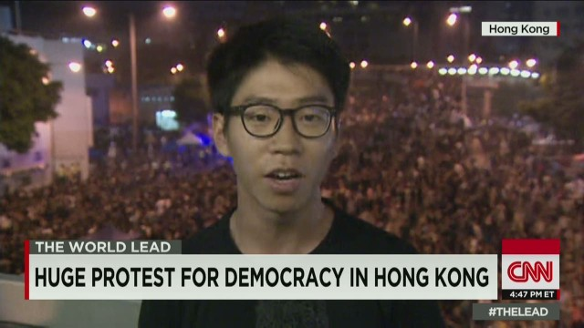 Hong Kong protestor: 'We are terrified'