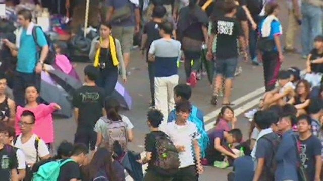Hong Kong protesters not backing down
