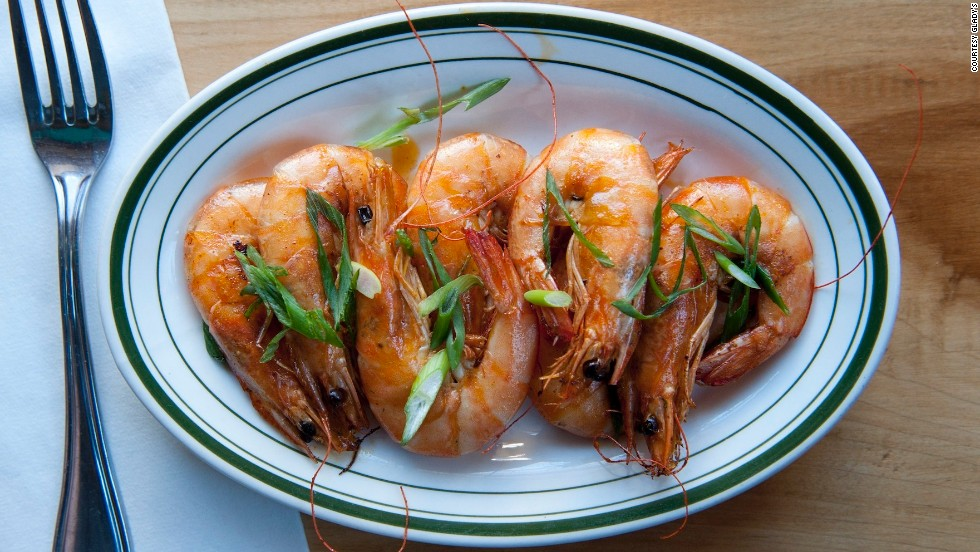 Peppered shrimp at Brooklyn restaurant Glady's, which serves Caribbean cuisine.