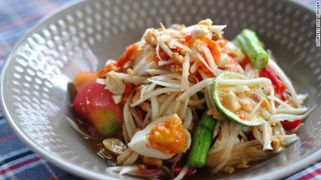 Bangkok import Somtom Der serves northeast Thai cuisine.